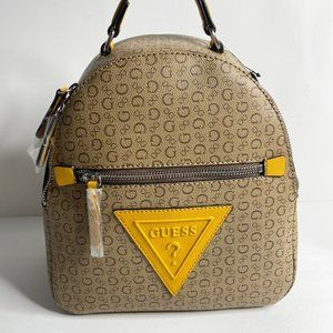 NEW* Guess ROBINSON small Backpack Purse MOCHA